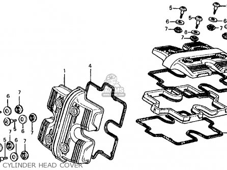 Honda Vf700s Sabre 1985 f Usa California Cylinder Head Cover