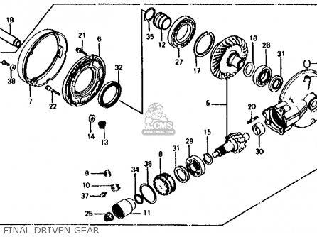 Honda Vf700s Sabre 1985 f Usa California Final Driven Gear