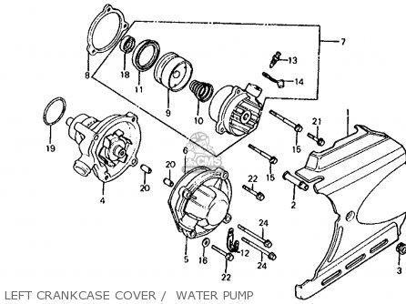 Honda Vf700s Sabre 1985 f Usa California Left Crankcase Cover    Water Pump