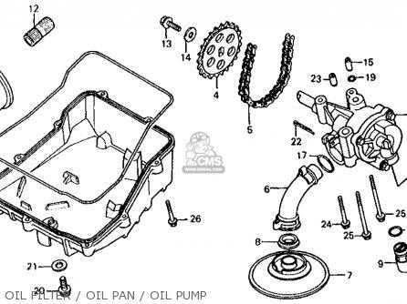 Honda Vf700s Sabre 1985 f Usa California Oil Filter   Oil Pan   Oil Pump