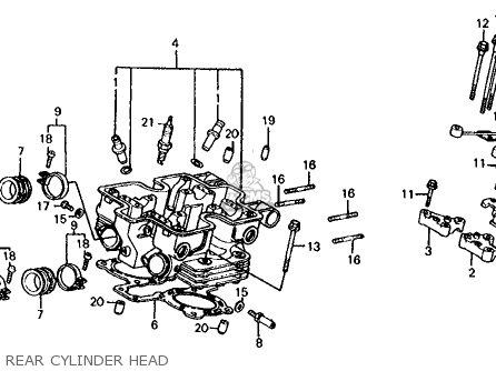 Honda Vf700s Sabre 1985 f Usa California Rear Cylinder Head