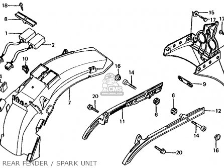 Honda Vf700s Sabre 1985 f Usa California Rear Fender   Spark Unit