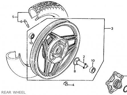 Honda Vf700s Sabre 1985 f Usa California Rear Wheel
