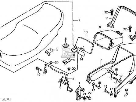 Honda Vf700s Sabre 1985 f Usa California Seat