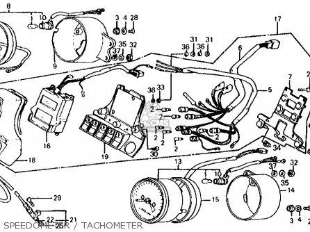 Honda Vf700s Sabre 1985 f Usa California Speedometer   Tachometer