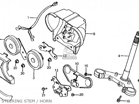 Honda Vf700s Sabre 1985 f Usa California Steering Stem   Horn