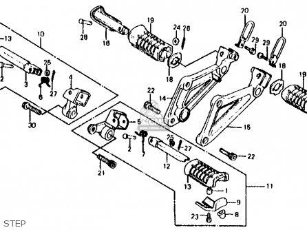 Honda Vf700s Sabre 1985 f Usa California Step