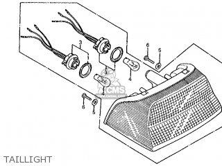 Honda Vf700s Sabre 1985 f Usa California Taillight