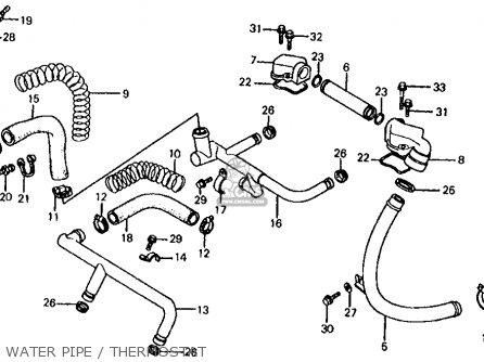 Honda Vf700s Sabre 1985 f Usa California Water Pipe   Thermostat