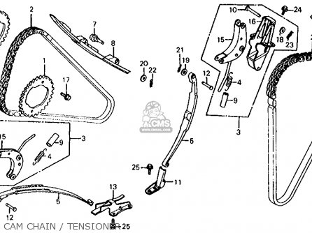 Honda Vf700s Sabre 1985 Usa Cam Chain   Tensioner