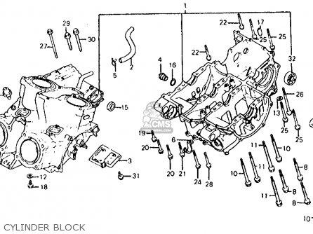 Honda Vf700s Sabre 1985 Usa Cylinder Block