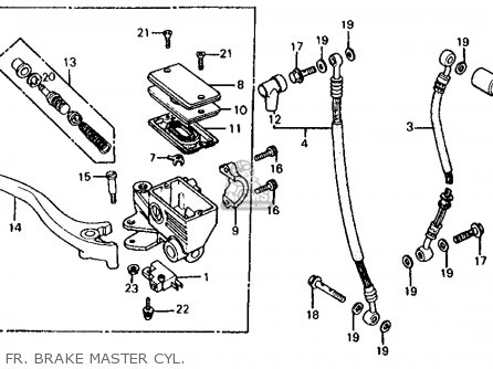 Honda Vf700s Sabre 1985 Usa Fr  Brake Master Cyl