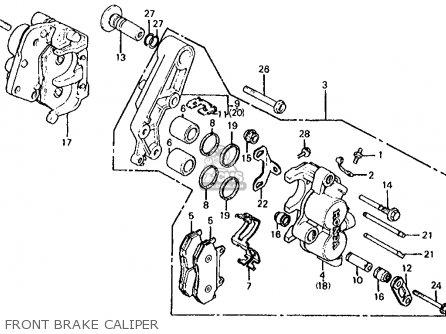 Honda Vf700s Sabre 1985 Usa Front Brake Caliper