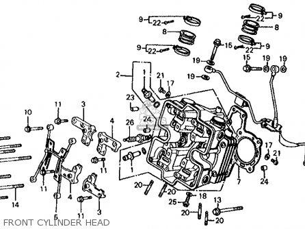 Honda Vf700s Sabre 1985 Usa Front Cylinder Head