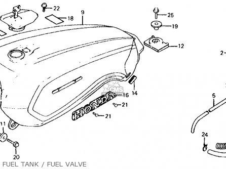 Honda Vf700s Sabre 1985 Usa Fuel Tank   Fuel Valve