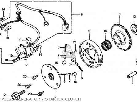 Honda Vf700s Sabre 1985 Usa Pulse Generator   Starter Clutch