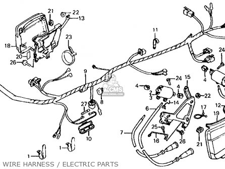 Honda Vf700s Sabre 1985 Usa Wire Harness   Electric Parts