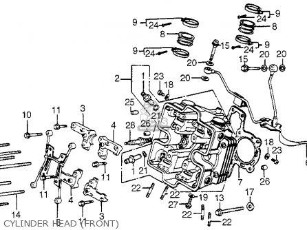 Honda Vf750c Magna 1982 c Usa Cylinder Head front