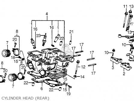 Honda Vf750c Magna 1982 c Usa Cylinder Head rear