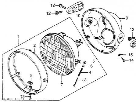 Honda Vf750c Magna 1982 c Usa Headlight