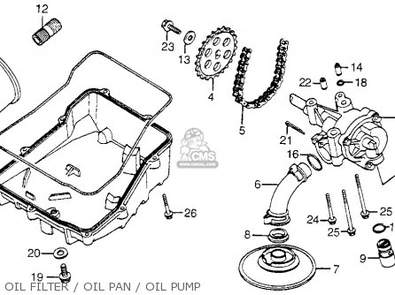Honda Vf750c Magna 1982 c Usa Oil Filter   Oil Pan   Oil Pump