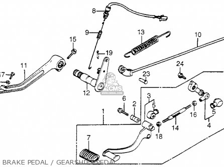 Honda Vf750c Magna 1983 d Usa Brake Pedal   Gearshift Pedal