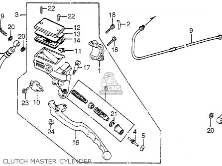 Honda Vf750c Magna 1983 d Usa Clutch Master Cylinder