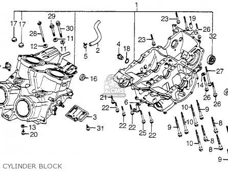 Honda Vf750c Magna 1983 d Usa Cylinder Block