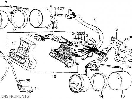 Honda Vf750c Magna 1983 d Usa Instruments