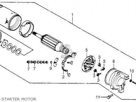 Honda Vf750c Magna 1983 d Usa Starter Motor