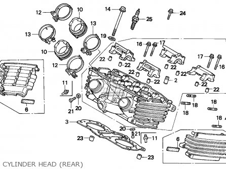 Honda VF750C MAGNA 1996 (T) ENGLAND parts lists and schematics