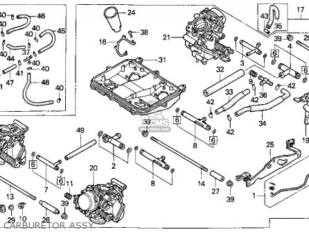 Honda Vf C Magna C Usa Carburetor Assy Mediumhu E B D on 1990 Kawasaki Bayou 300 Carburetor Diagram