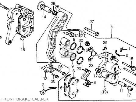 Honda Vf750c V45 Magna 1982 Usa Front Brake Caliper