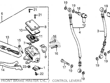 Honda Vf750c V45 Magna 1982 Usa Front Brake Master Cyl     Control Levers