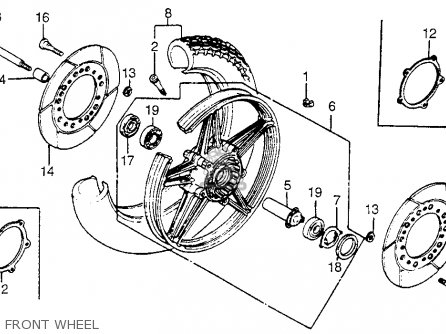 Honda Vf750c V45 Magna 1982 Usa Front Wheel