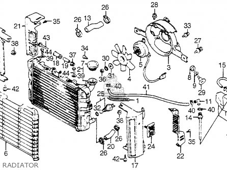 Honda Vf750c V45 Magna 1982 Usa Radiator