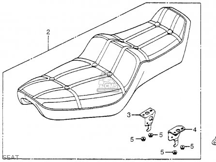 Honda Vf750c V45 Magna 1982 Usa Seat