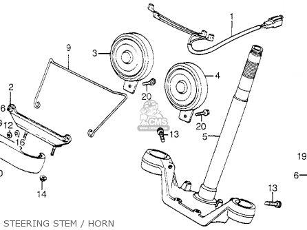Honda Vf750c V45 Magna 1982 Usa Steering Stem   Horn