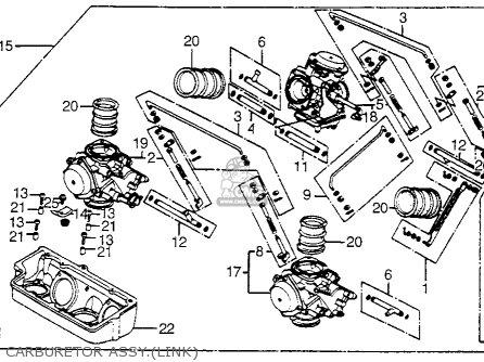 Honda Vf750c V45 Magna 1983 Usa Carburetor Assy link