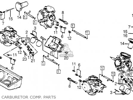 Honda Vf750c V45 Magna 1983 Usa Carburetor Comp  Parts