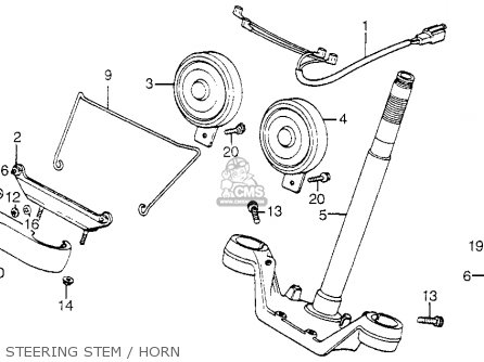 Honda Vf750c V45 Magna 1983 Usa Steering Stem   Horn