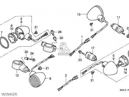 Honda Vf750c2 Magna 1997 V Canada Kmh Parts Lists And Schematics