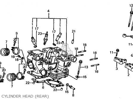 honda vf750s sabre 1983  d  usa parts list partsmanual