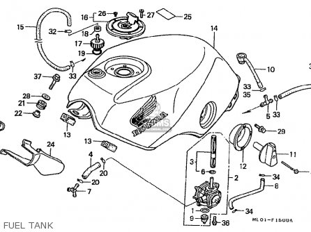Honda VFR 400 ремонт крана бензобака