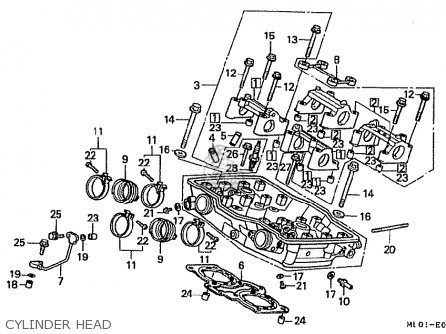 Honda vfr400riii nc24 102 1988 j japan parts lists and schematics honda vfr400riii nc24 102 1988 j japan cylinder head cheapraybanclubmaster Image collections