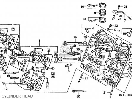 Honda vfr400riii nc24 102 1988 j japan parts lists and schematics honda vfr400riii nc24 102 1988 j japan cylinder head asfbconference2016 Choice Image