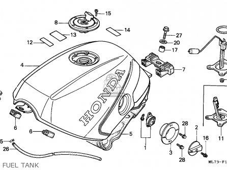 Honda Vfr750f 1988 England   Mkh Fuel Tank
