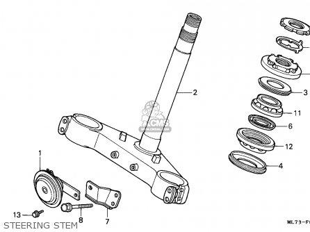 Honda Vfr750f 1988 England   Mkh Steering Stem