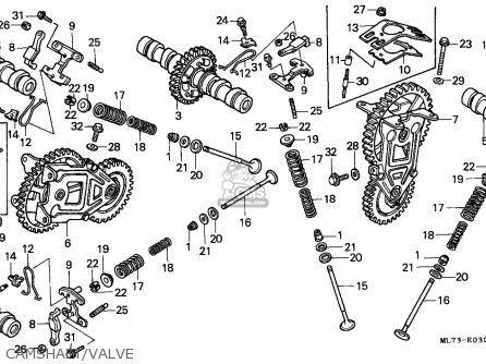 Honda Vfr750f 1988 j England Mkh Camshaft valve
