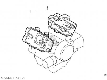 Honda Vfr750f 1988 j England Mkh Gasket Kit A